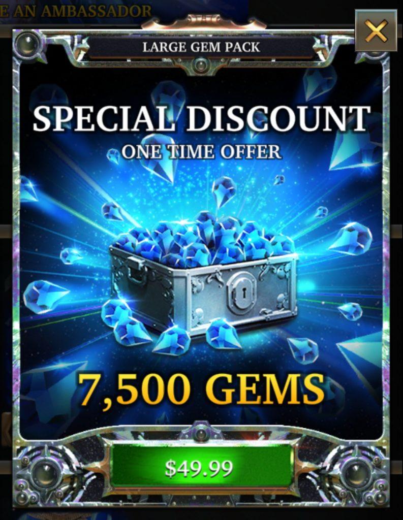 LGOH Buy Gems
